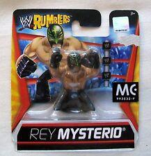 "WWE RUMBLERS 2"" (5cm) Mini-Figure REY MYSTERIO Damaged Backing Card"