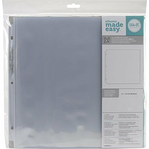We R Memory Keepers 12 X 12 Inch 3 Ring Album Page Protectors 10 Pk