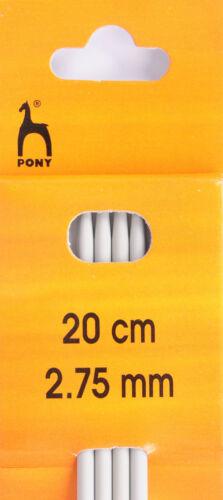 Pony Doble señalado calcetín Agujas De 2.0 mm A 10.0 mm Conjuntos De 4