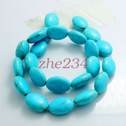 Blue Turquoise Gemstone Spacer Loose Beads Charm Findings 15/'/' Strand Wholesale#
