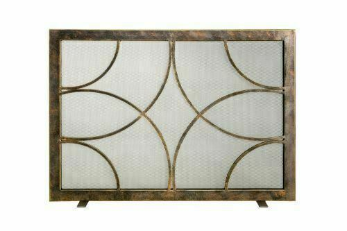 Ornamental Designs Adelaide Fireplace Screen With Steel Construction Bronze For Sale Online Ebay