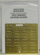 Spritzschablone Israelische Nummernschilder, 1:35, Sonderpreis , Restposten