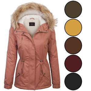 Ladies Brown Parka Jacket