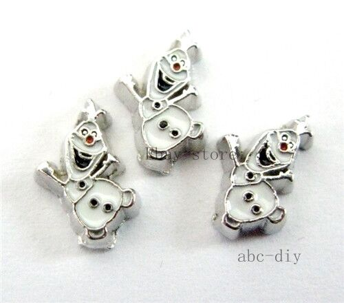 10pcs olaf  Floating charms For Glass memory Locket Free shipping 491
