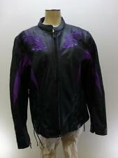 Xelement padded Bikers Leather Coat jacket Motor Cycles z/u lined rose sz Small