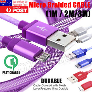 FAST-CHARGING-Android-Charger-Micro-USB-Cable-Premium-Braided-Samsung-Galaxy-6-7