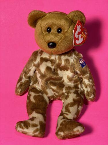 - the Bear Ty Beanie Baby HERO Australian Flag On Arm Australia