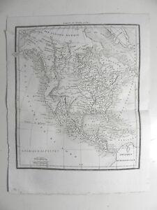 Le Prix Le Moins Cher Amerique Septentrionale Carte Ancienne 1824