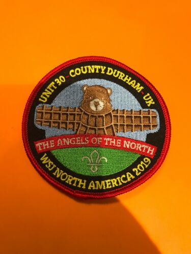 24th World Scout Jamboree Unit 30 Durham Badge Red Border WSJ 2019