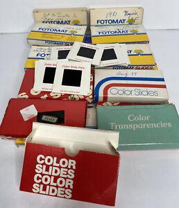 360 Vintage 1970's & 1980's 35mm Slides Assorted Photos