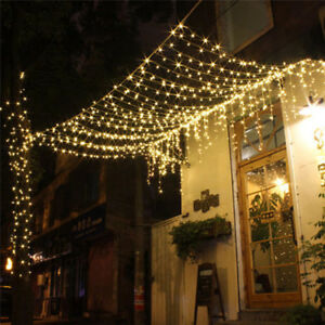 Led string fairy lights net mesh curtain xmas wedding party outdoor image is loading led string fairy lights net mesh curtain xmas aloadofball Gallery