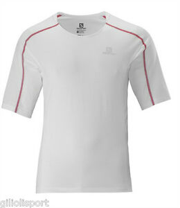 SALOMON-LIGHT-TEE-M-Maglietta-T-SHIRT-FUNZIONALE-TRAIL-RUNNING-328889-WHITE