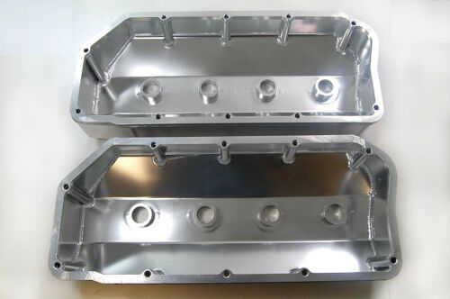1966-71 Aluminum Polished Fabricated 426 HEMI Mopar Valve Covers