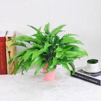 Green Imitation Fern Plastic Artificial Grass Leaf Plant Home Wedding Decor FO