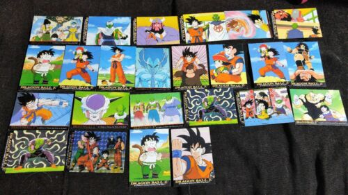 1996 lot Dragonball Z cards funimation vintage NEAR MINT and RARE + Goku