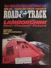 Road & Track Magazine October 1988 Lamborghini Countach 25th Anniversary  (PP)