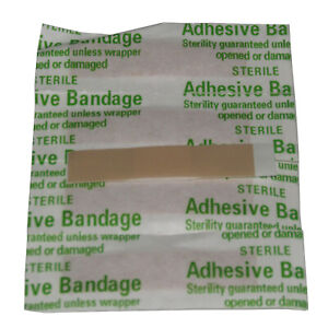 100 x 10mm x 40mm FIRST AID TRAVEL HOME WORK PLASTERS camping caravan boat
