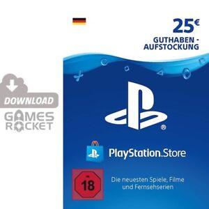 25€ PSN DE Playstation Network Code Card 25 Euro € EUR   PS4, PS3, Vita Guthaben