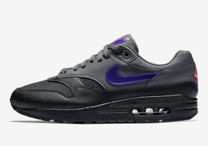 new style new images of best deals on Details about Nike Men's Air Max 1 'Fierce Purple' NEW AUTHENTIC  Grey/Purple AR1249-002