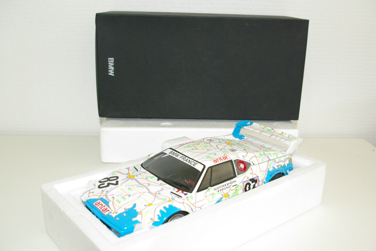 MINICHAMPS BMW m1 24 H le mans 1980 MIGNOT Pironi Dealer Edition Comme neuf en boîte rare
