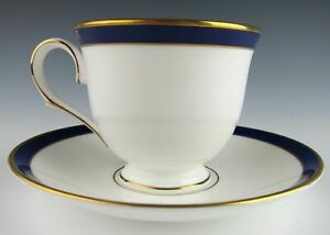 Lenox-China-FEDERAL-COBALT-Cup-and-Saucer-Set-s-EXCELLENT