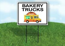 Bakery Trucks Black Border Yard Sign Road With Stand Lawn Sign