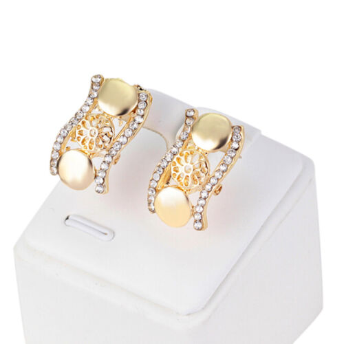 Vintage Necklace Earrings Jewelry Fashion Gold Women CrystalParty Jewelry Setvbu