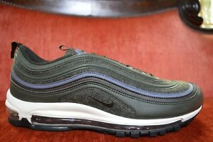 Details about Mens Nike Air Max 97 Premium Sequoia Velvet Brown 312834 300 Felt QS Green Sean