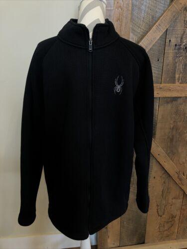 SPYDER Men's Black Foremost Full Zip Fleece Lined