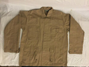 NWOT-039-s-3rd-Party-Military-Style-Tan-Beige-Cargo-Jacket-Top-Large-Regular