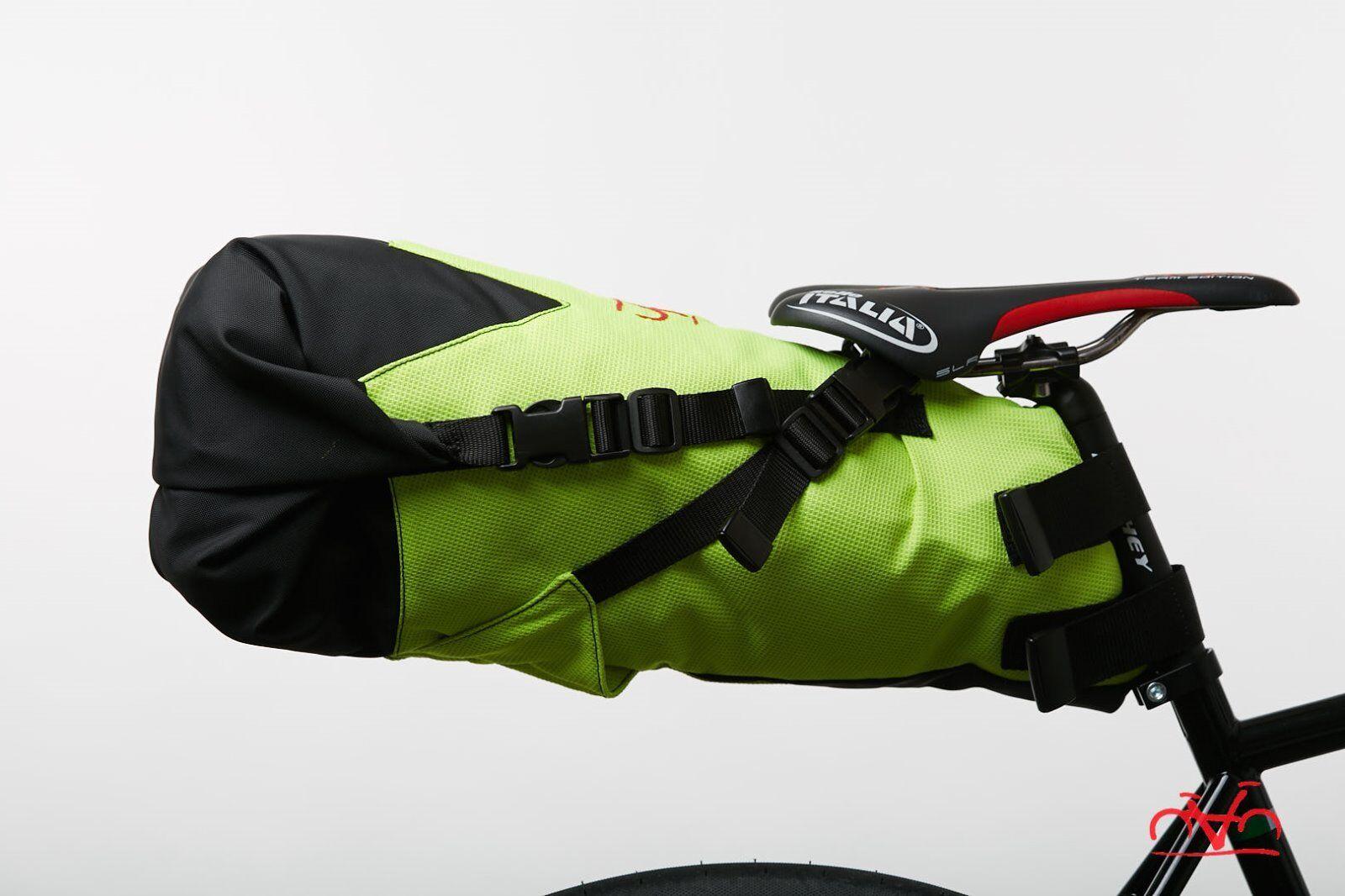 Borsa sottosella, Fahrradpacking, Saddle Tasche 16LT, Agar Fahrrad - Gialla Fluo