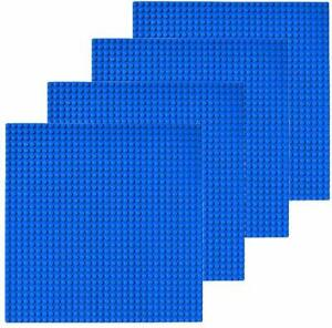 4-Pc-Blue-10-034-x10-034-building-Baseplate-Classic-Bricks-Base-Plates-All-Major-Brands
