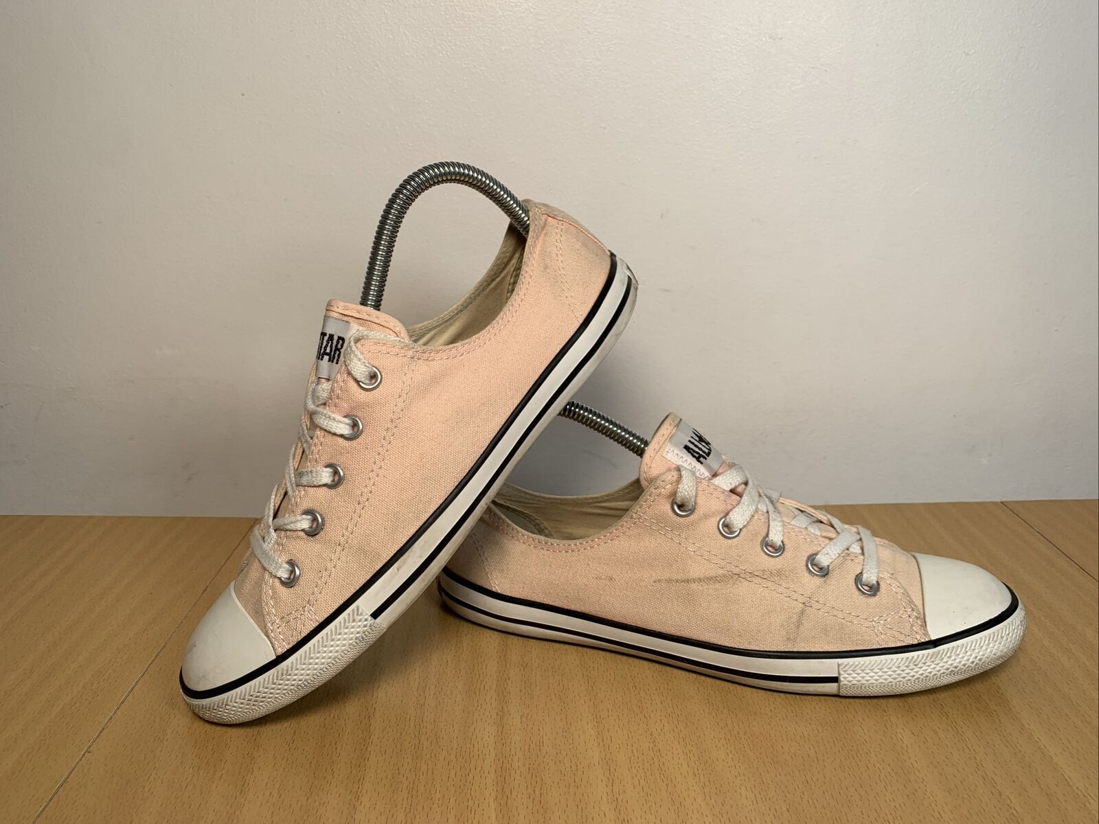 Converse All Star Basse Ox Toile Rose Clair Baskets Taille UK 6 EUR 40
