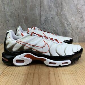Details about Nike Air Max Plus Size 11 Mens Script Swoosh White Black Pure  Platinum Shoes