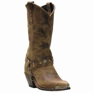 226dde1c351 Image is loading Abilene-Distressed-Harness-Cowgirl-Boot-Round-Toe-4528
