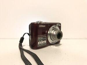 Nikon COOLPIX L24 14.0MP Digital Camera - Red - Tested