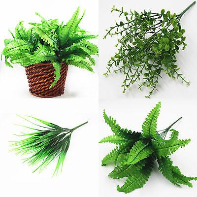 Hot Sale Green Plant Silk Leaf Foam Fake Artificial Foliage Flowers Home Decor