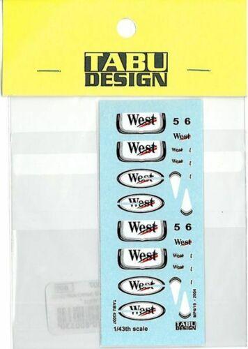 TABU DESIGN 1//43 MP4//19 Tobacco decal for HOT WHEEL TABU43007 Decal New F//S