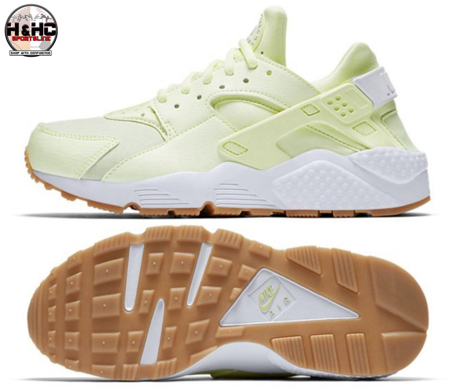 Nike Air Huarache Run 634835 702 Barely Volt White-Gum Yellow Women's shoes