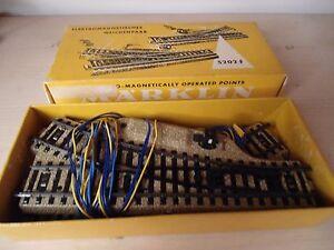 Marklin-train-Ho-5202-2-aiguillage-droit-gauche-Comme-neufs-en-boite-d-origine