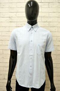 Camicia-CARRERA-Uomo-Taglia-Size-M-Chemise-Shirt-Maglia-Man-Cotone-Manica-Corta
