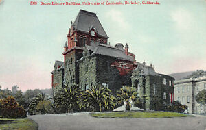 Bacon-Library-Bldg-University-of-California-Berkeley-Early-Postcard-Unused