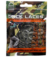 """Lock Laces For Boots Elastic No Tie Boot Laces Camo 72"""" Long One Size Fits All"""
