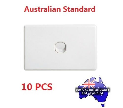 Light Wall Switch – 1 Gang or 2 Gang, Australian Standard