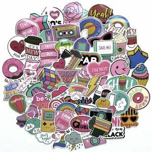 60pcs-Anime-Novelty-Pink-Stickers-Decals-Skateboard-Car-Luggage-Laptop-Vinyls