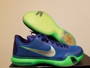 adced7a4c3ec Nike Kobe X 10 Emerald City Seattle Seahawks Blue Green Shoes Size 8 ...