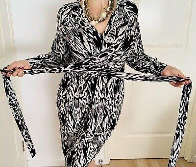 Charlie Brown Womens Designer Dress Stretchy Black White Made In Au Sz 14 Ebay