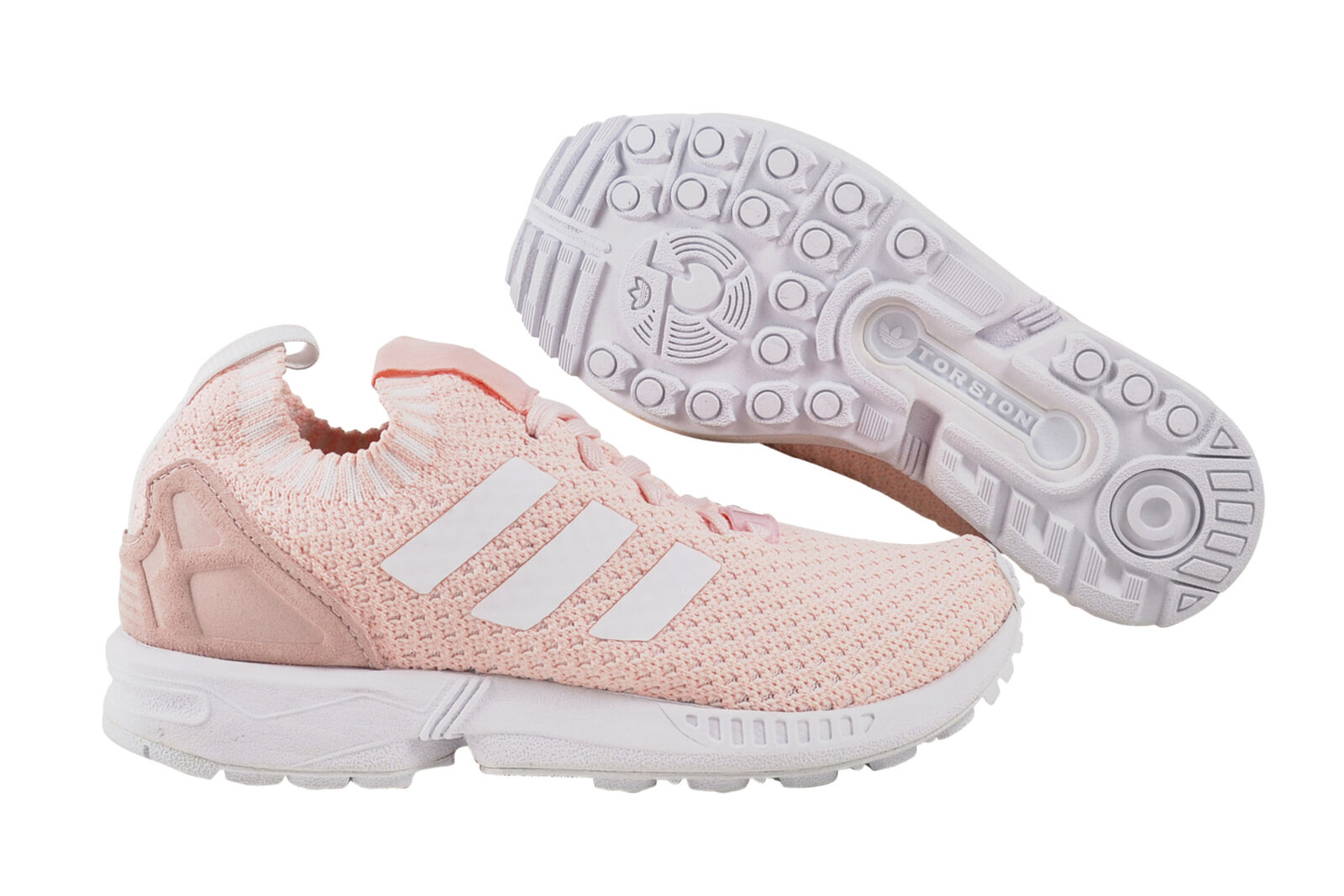 Zapatos promocionales para hombres y mujeres Adidas ZX Flux Primeknit Women halpin white Sneaker Schuhe rosa S81900