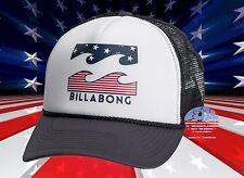 New Billabong Podium Mens USA Stars Stripes Trucker Snapback Cap Hat