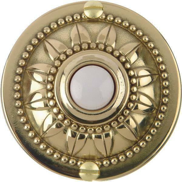 6 Pack Carlon Polished Brass Wired Push-Button for Door Bell no. DH1650L